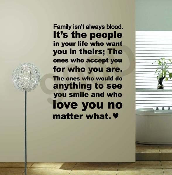 Family Isnt Always Blood Quotes Wall Stickers Removable Vinyl