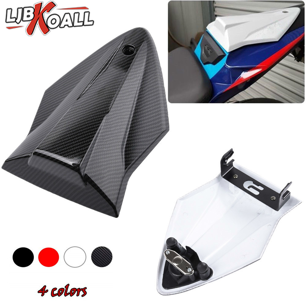 black+ cowl lock kit Rear Seat Cover Tail Section Motorbike Fairing Cowl for BMW S1000RR S1000 2015 2016 2017 2018