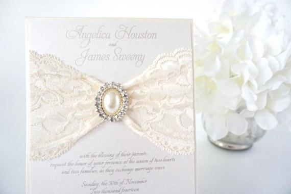 Elegant Lace Wedding Invitations guitarreviewsco