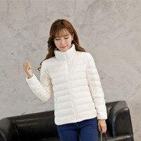 Winter Jacket Women Ultra Light Down Jacket Women Coat 90% Duck Down Jacket Packable Thin Feather Short Parka