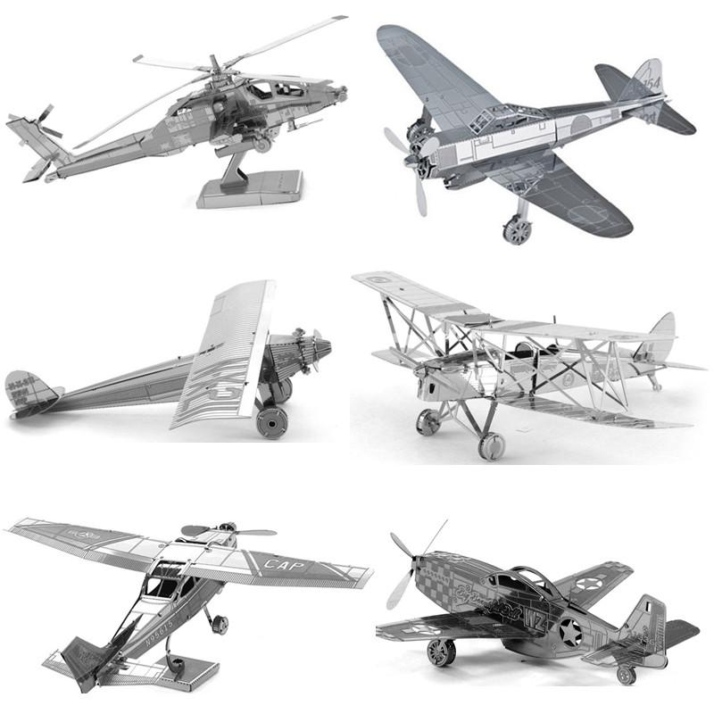 DIY 3D Metal Puzzles for children Adults Jigsaw Puzzle Planes