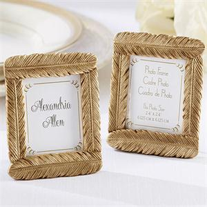 FREE SHIPPING(10pcs/Lot)+Gold Feather Photo Frame/Place Card Holder Golden Wedding Baby Party Decoration Table Number Holders