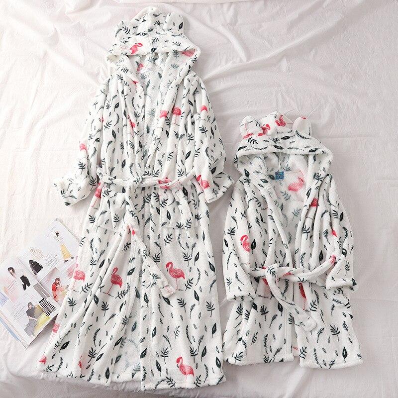 Famille correspondant vêtements flanelle Robe tenues maman et fille famille Look maman et moi vêtements mère fille robes vêtements de nuit