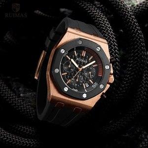 Image 3 - RUIMAS 24 Hours Quartz Watches Men Luxury Sports Army Chronograph Wristwatch Top Brand Relogios Masculino Clock Watch R540 Rose