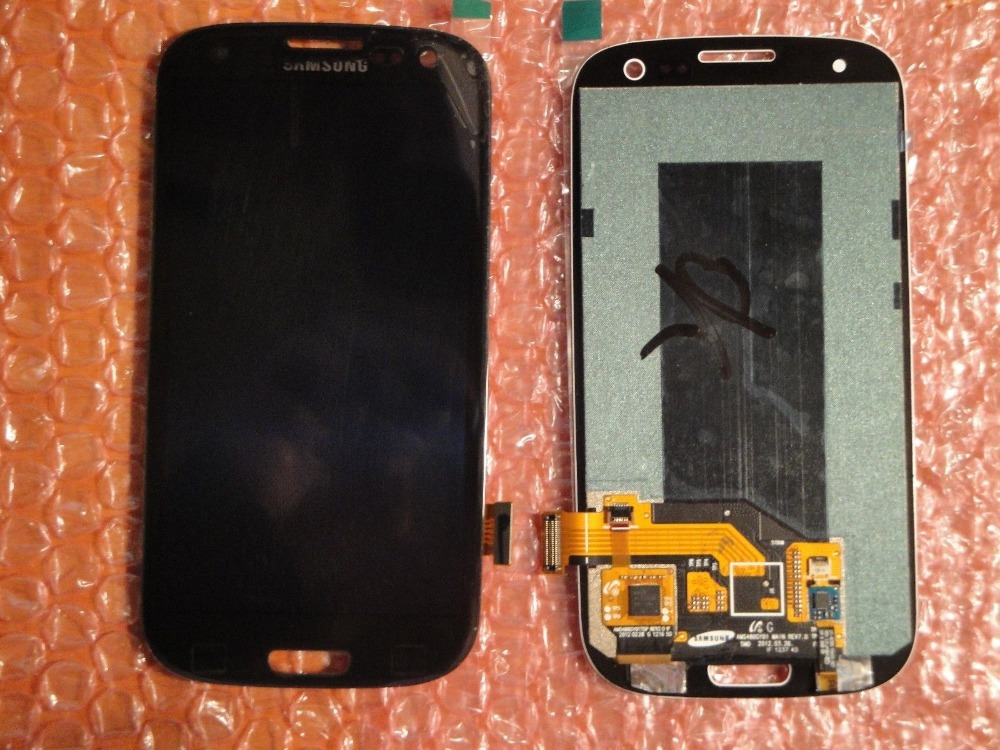 Black Color For Samsung Galaxy S3 III S3 i9300 i9305 i747 T999 Glass LCD +Touch Display Lens Digitizer Screen Assembly