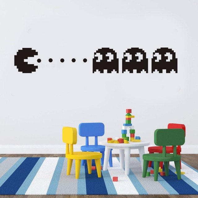 New Pacman Vinyl Wall Decal Home Decor Kids Room Decor Bedroom Diy  Wallpaper Removable Wall Stickers
