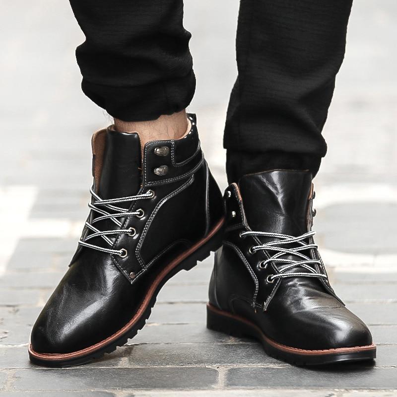 Cheap Price font b Men s b font Leather font b Boots b font 2016 New
