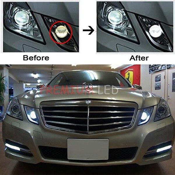Image 5 - 2pcs HID Matching Xenon White LED Parking Position Light For 2010 2013 Pre LCI Mercedes E Claselight forlight ledlight led light -
