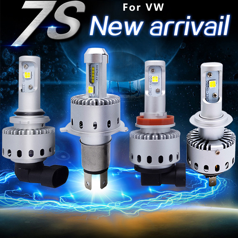 2Pcs 8000LM 12V 80W Car LED Headlight Auto LED Head Bulb HI LO Beam HeadLamp Passat