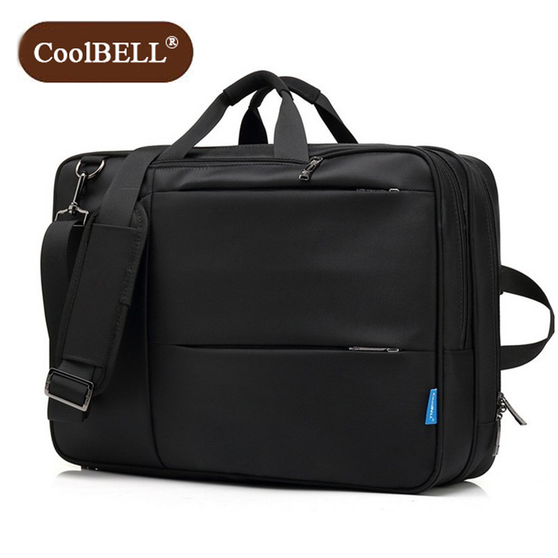 Cool BELL Business Fashion Multi purpose Shockproof Laptop Bag multi function handbags Water proof Oxford fabric