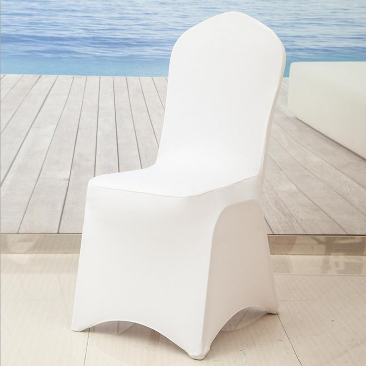Universele Wit Stretch Polyester Spandex Bruiloft Stoelbekleding voor Bruiloften Banket Hotel Decoratie Decor-in Stoelhoes van Huis & Tuin op  Groep 2