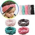 Dot baby head wrap bow baby girl headband turban hair accessories top knot bow headband floppy head wrap