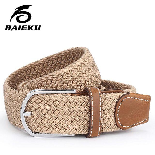 Baieku Homens e mulheres universal cinto trançado moda elástico cinto de tecido