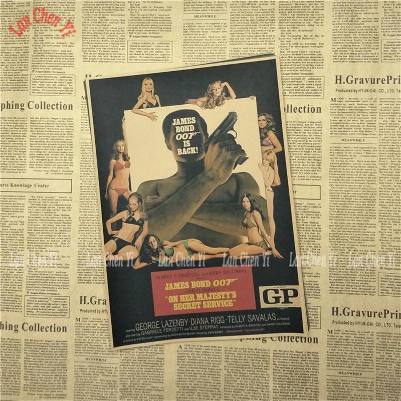 James Bond 007 Serie 1 Klassisk Film Kraftpapper Poster Vintage - Heminredning - Foto 5
