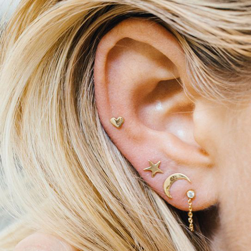New Bijoux Fashion accessories moon star heart each pieces ss