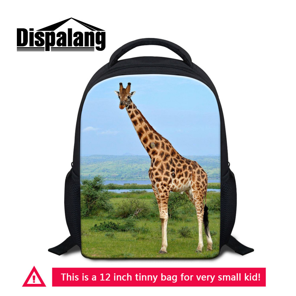 Dispalang Oxford Children School Bags Giraffe Animal Mini Kids Backpacks Brand Design Kindergarten Best Gifts Students Schoolbag