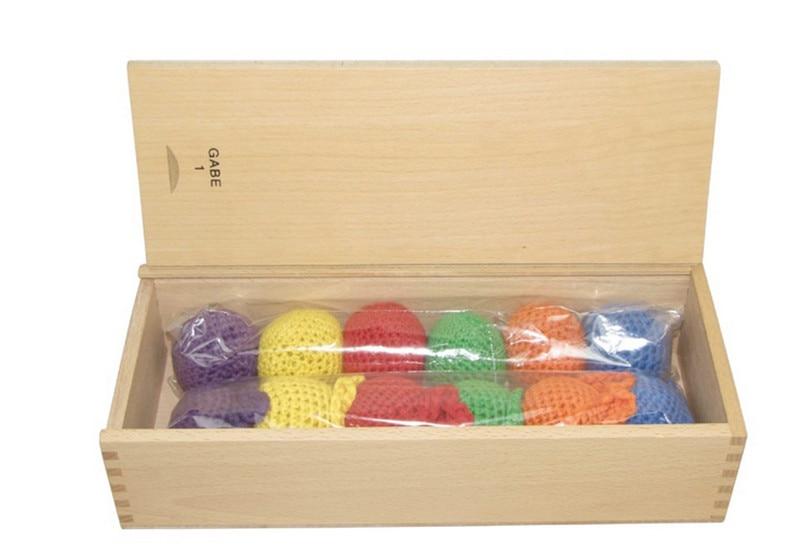 Nouveau jouet en bois bébé Frobel balle Six couleurs bébé jouet éducatif bébé cadeaux