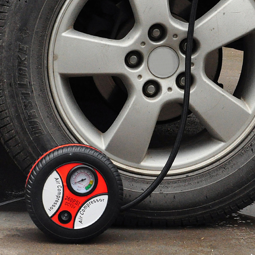 protable Car Mini Inflatable Pump Air Compressor Tire Design 12V Input Air Pumping Tire Pumps Voltage Electric Inflating Machine