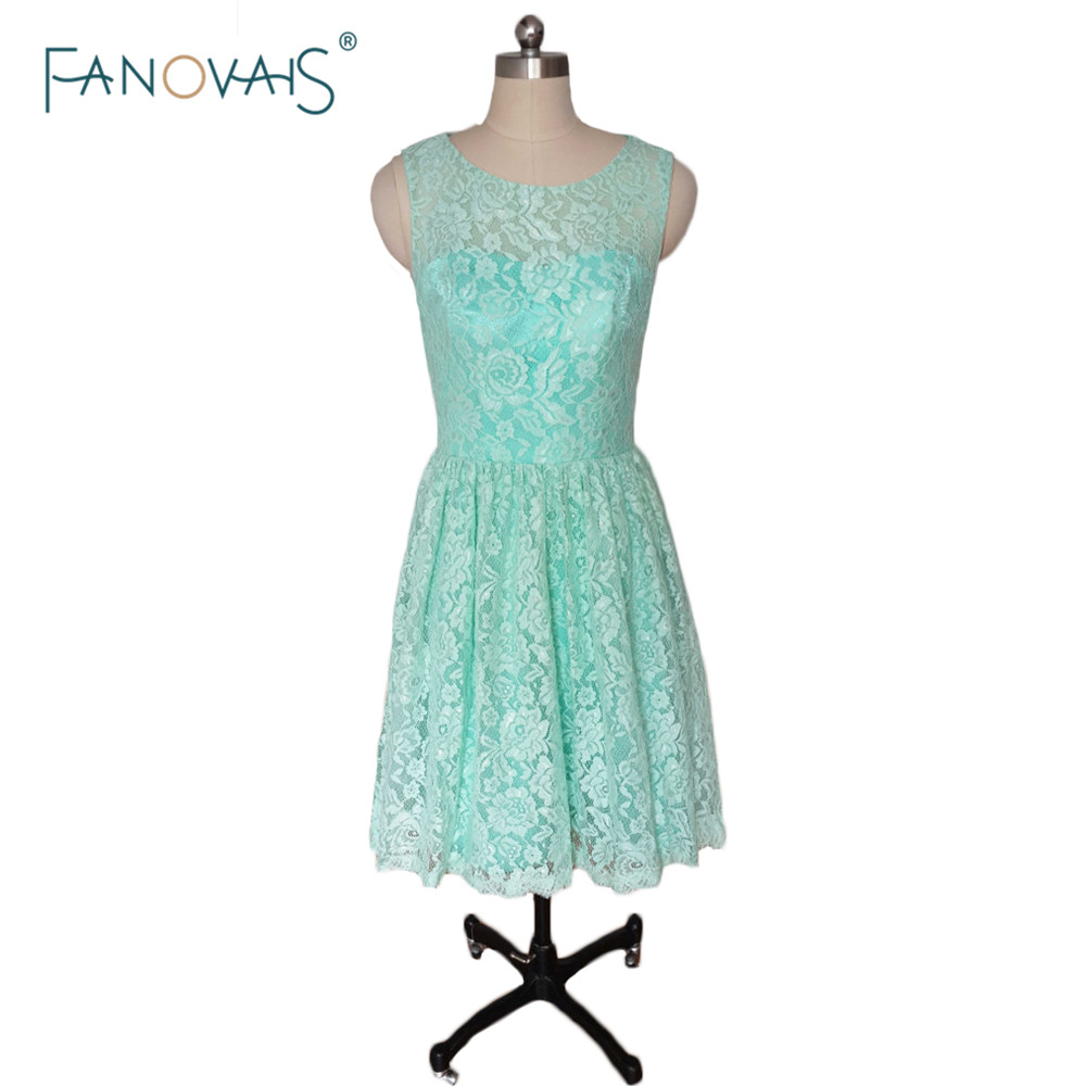 Vintage Mint Green Short Bridesmaid Dresses 2016 Simple scoop A line ...