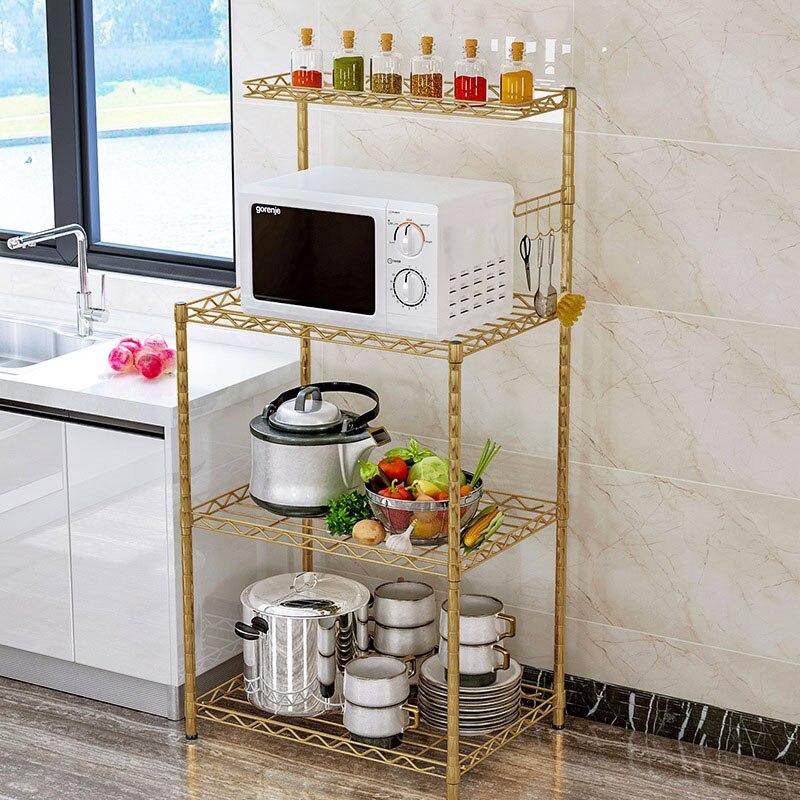 Kitchen Shelf Kitchenware Organizer Microwave Oven Storage Rack Keep the Kitchen Clean and Tidy Home Storage Shelf for Bathroom