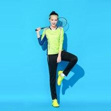 Костюм для настольного тенниса одежда для бадминтона Женский комплект брюки лето осень зима быстросохнущая одежда спортивный костюм с длинными рукавами