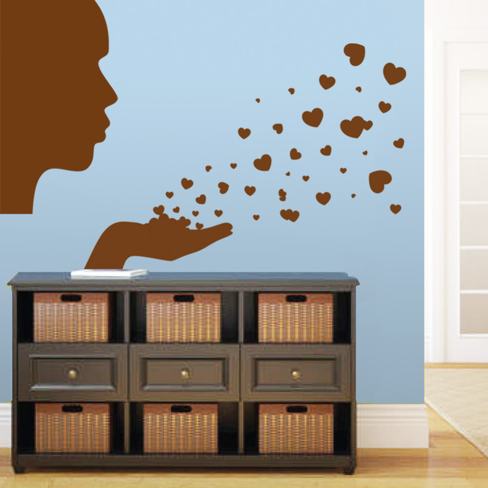compare prices on baby boy wallpapers online shopping buy low hot 3d people blowing hearts wall decal sticker boy girl love nursery baby room