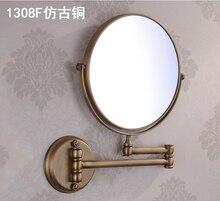 8 «Double Side Ванная Комната Складной туалетным Зеркалом Настенные Продлить с Двойной Рычаг 1x3x Увеличительное зеркало для макияжа