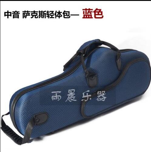 Durable Alto Eb saxophone bag sax case Double strap purple color alto saxophone glass fiber case light durable lock blue new 8