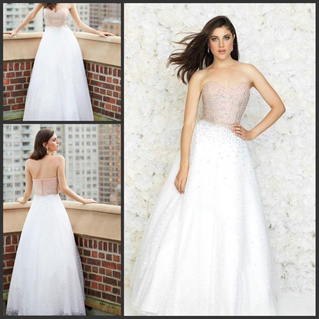 2015 tulle ball gown wedding dresses amazing dramatic with pink ...