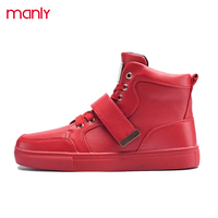MANLI Big Size39 46 Fashion Superstar High Top Shoes Men Casual Shoes Comfortable Brand Red Bottom