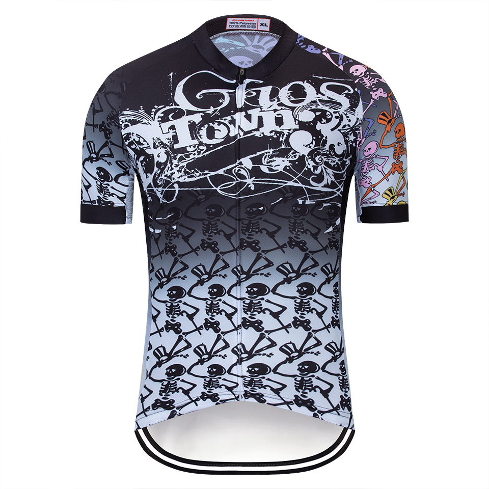 2019 Summer season Skeleton Biking Jersey Quick Sleeve Out of doors Sport Bicycle  Biking Clothes MTB ae14b873c