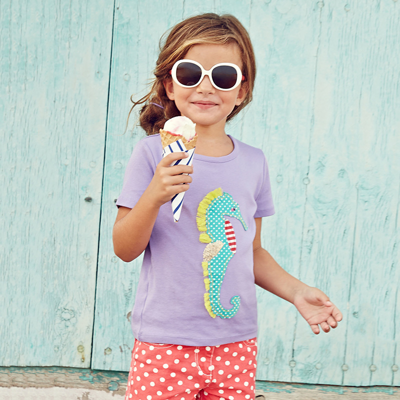 Seahorse! Cotton A Girls tshirts Comfortable tshirt Girl Kids for 18Months to 6T