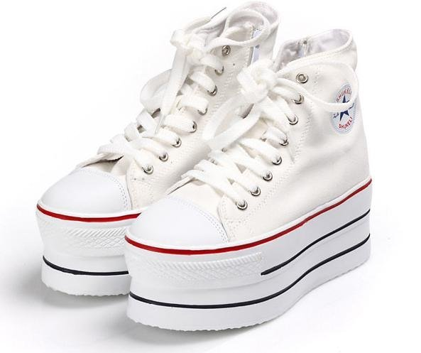Women's Canvas Shoes Smart Studded Platform Casual Shoes Sneakers (size 35-39) 6138