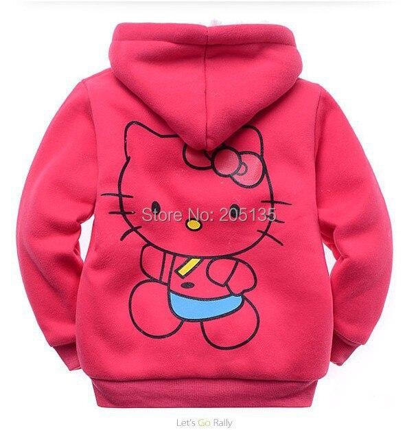 Aliexpress.com : Buy 2016 Baby girls Hello Kitty coat Hooded fur ...