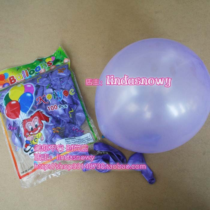 Balloon style circle to balloons birthday transparent purple 10 general 20 pearlizing