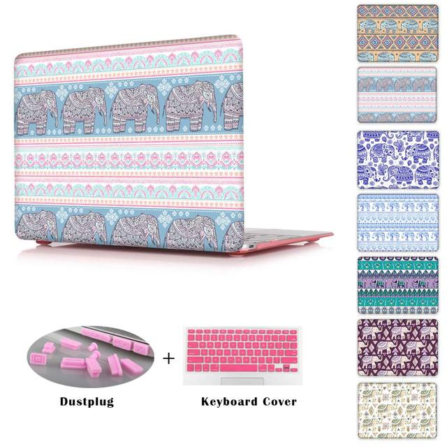 Print Hard Shell for Apple Macbook pro 12 13 15 with retina for Mac air 13 11 / Pro 13 15 No Retina Case Cover  Ethnic Elephant
