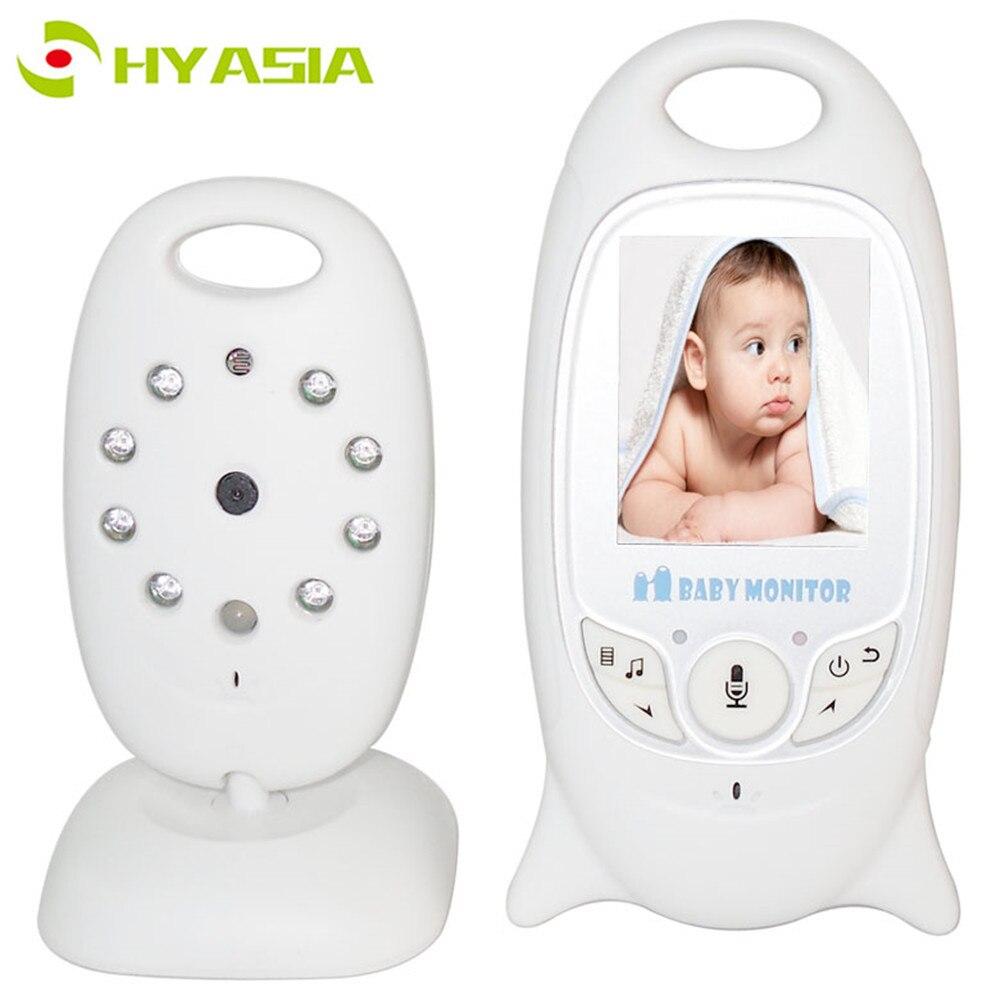 Câmera 2way Discussão Baby Monitor Sem Fio Do Bebê para Recém-nascidos HYASIA Night Vision Segurança Temperatura Babá Rádio Monitor de Vídeo Do Bebê