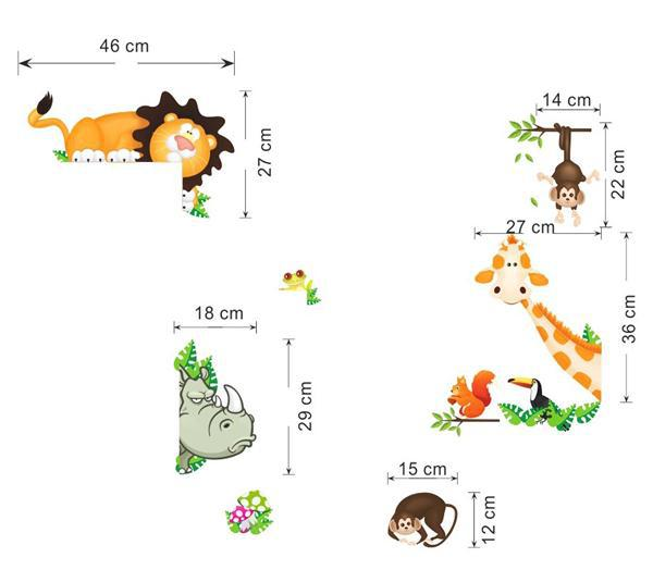 HTB1TpY HXXXXXbBXFXXq6xXFXXXE - Cute Animal Live in Your Home DIY Wall Stickers/ Home Decor Jungle Forest Theme Wallpaper/Gifts for Kids Room Decor Sticker