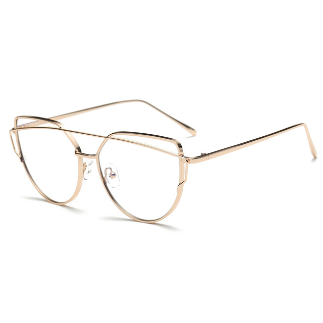 71f14e26756 Simvey 2017 Fashion Trendy Optical Eyeglass Frames Clear Lens Eyewear Cat  Eye Gold Glasses Frames Anti Blue Light Glasses