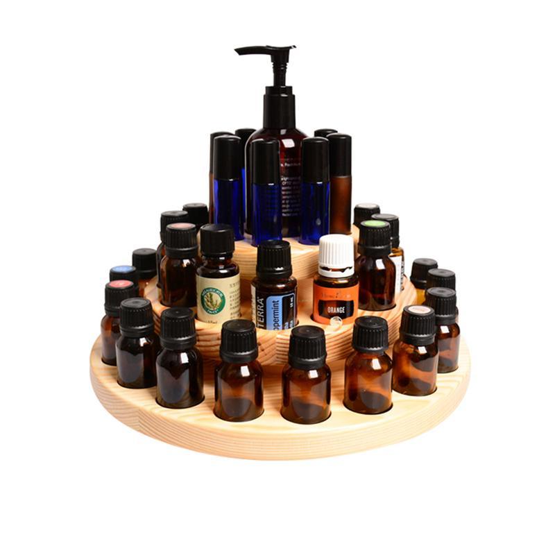 39 fentes huile essentielle bouteille organisateur trois couches huile essentielle boîte de stockage en bois aromathérapie huiles présentoir