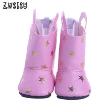 The new pink shoes, suitable for 14.5inch American  doll,  the best Christmas gift give children m238