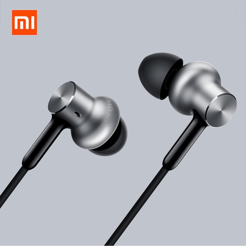 Original Xiaomi Earphone Mi Hybrid Pro HD Earphones In-Ear Wired Control With MIC Dual Dynamic For Xiaomi Mix 2 2S MI 6 original xiaomi pro hd in ear hybrid earphones