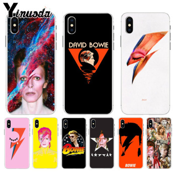 Yinuoda David Bowie Soft TPU silicone Phone Case Accessories Cover for Apple iPhone 8 7 6 6S Plus X XS max 5 5S SE XR Cover image