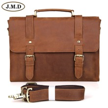 Free Shipping Crazy Horse Cow Leather Men s Briefcase Laptop Bag Messenger Bag handbag 6076B