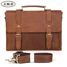 Free Shipping Crazy Horse Cow Leather Men's Briefcase Laptop Bag Messenger Bag handbag 6076B