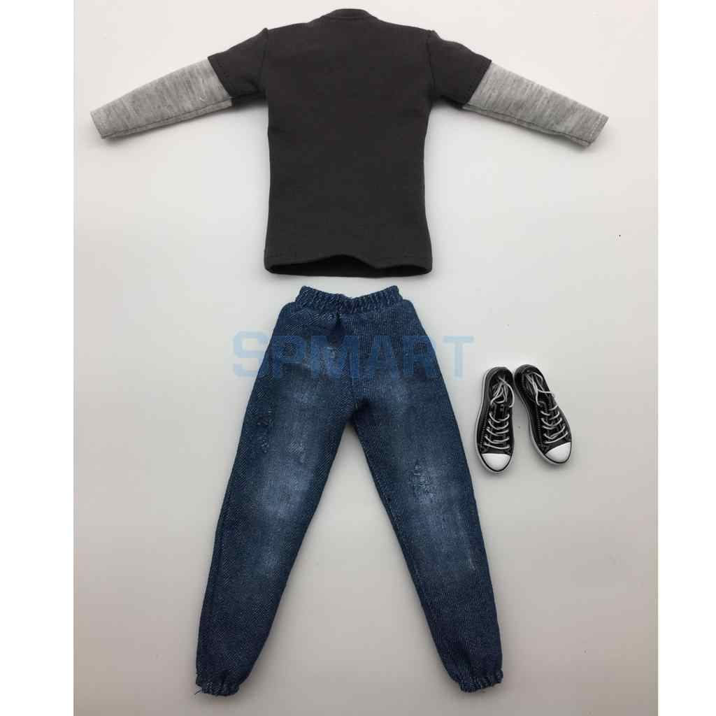 6th Male Sweatshirt Jeans Suit for Phicen 12inch Action Doll Accessories
