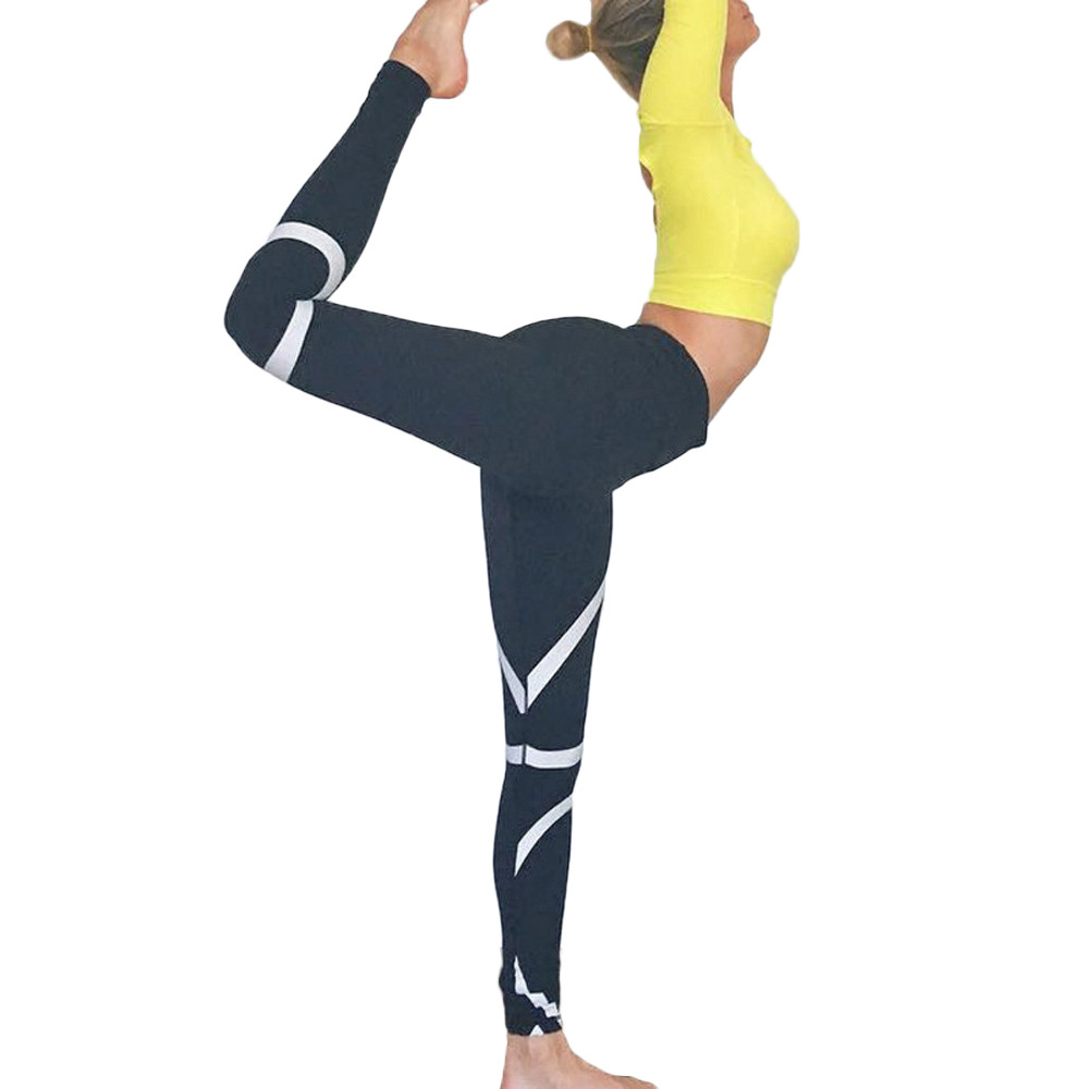Womail Brand Drop Shipping Sport Leggings Womens Splice Yoga Skinny Workout Gym Leggings Fitness Sports Cropped Pants