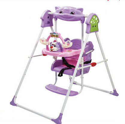 Children's household cradle swing chair child rocking chair baby toy indoor swing chair the silver chair