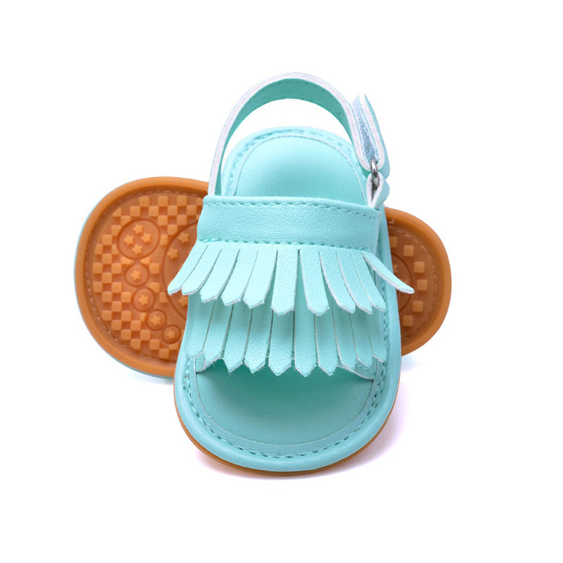 Baby boy girls shoes newborn infant crib shoes Moccasins PU Suede Fringe soft sole White Pink Gold Sliver Green Brown 2018 sale