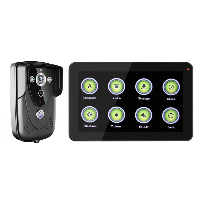 Wireless WiFi Video Camera Door Phone Doorbell Intercom Monitor Security Video Intercom Home Security bw wireless wifi door